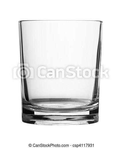 Empty glass isolated - csp4117931