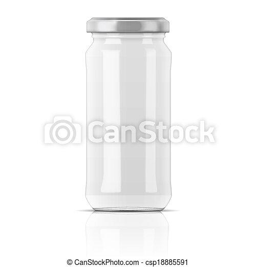 Empty glass jar - csp18885591