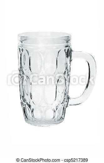 Empty glass mug - csp5217389