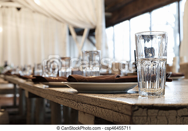 Empty glasses on the table - csp46455711