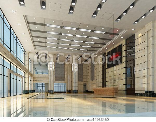 empty hall interior - csp14968450