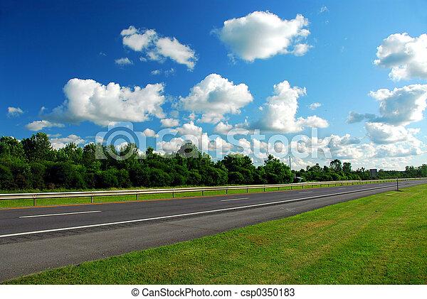 Empty highway - csp0350183