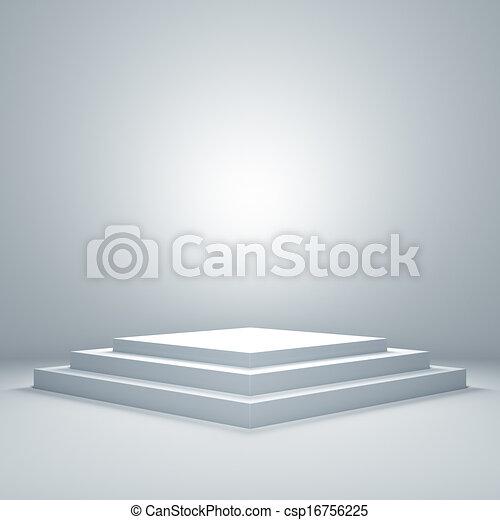 Empty illuminated podium - csp16756225
