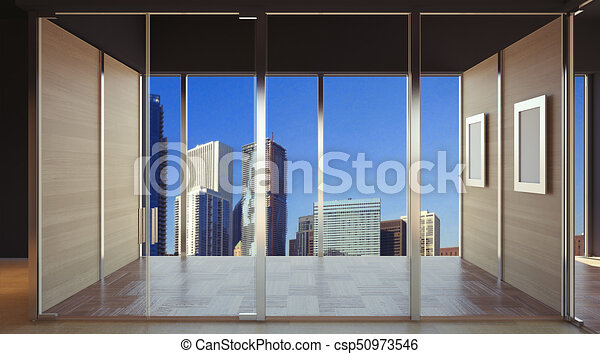 pics of office space. Empty Interior Of Office Space. 3D Rendering - Csp50973546 Pics Space