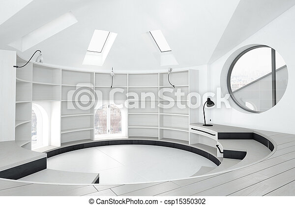 Empty library room - csp15350302