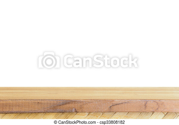 Empty light wood table top isolate on white background leave space empty light wood table top isolate on white background leave space for placement you background maxwellsz