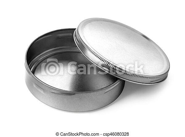 Empty metal box isolated - csp46080328