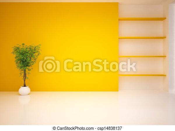 Empty modern interior living room, lounge - csp14838137