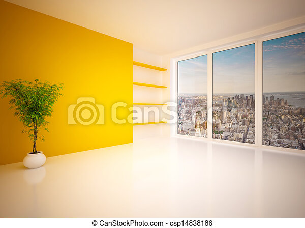 Empty modern interior living room, lounge - csp14838186