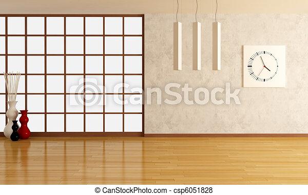 empty modern lounge - csp6051828