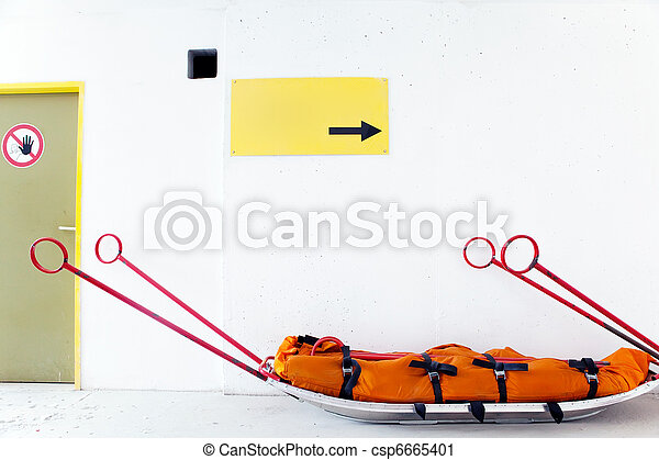 Empty mountain resque sled - csp6665401