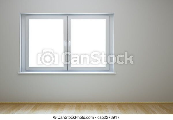 empty new room with window - csp2278917