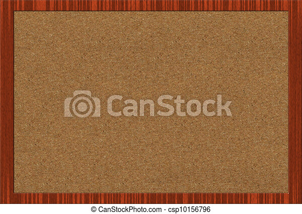Empty office cork notice board isolated with wood frame .