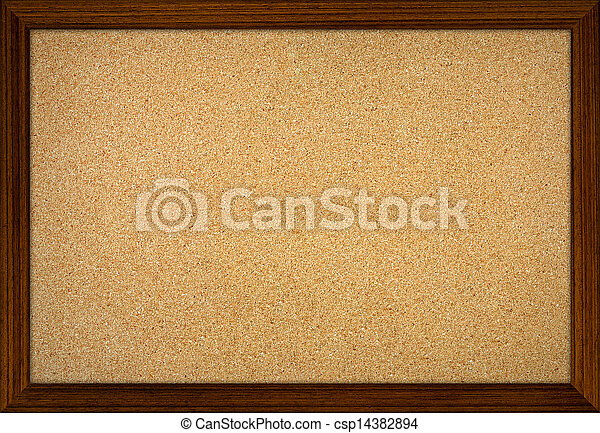 Empty office cork notice board with wood frame. Empty office cork ...