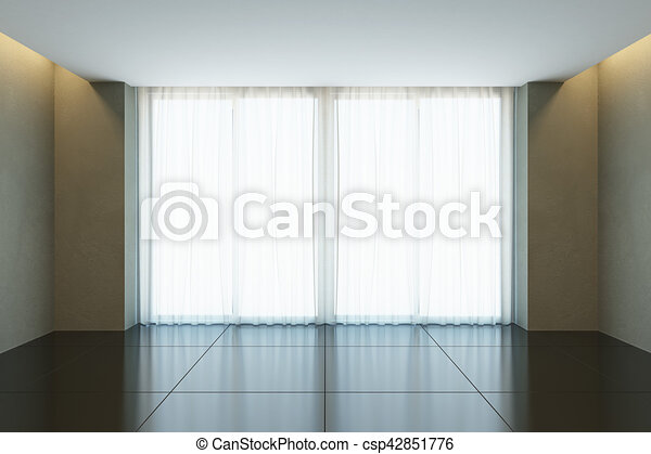 Empty office room with window stock illustrations - Search EPS ...