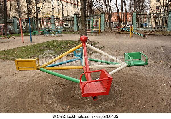Empty old playground - csp5260485