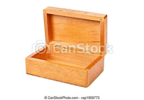 empty open wooden box isolated empty open wooden box isoleate on white