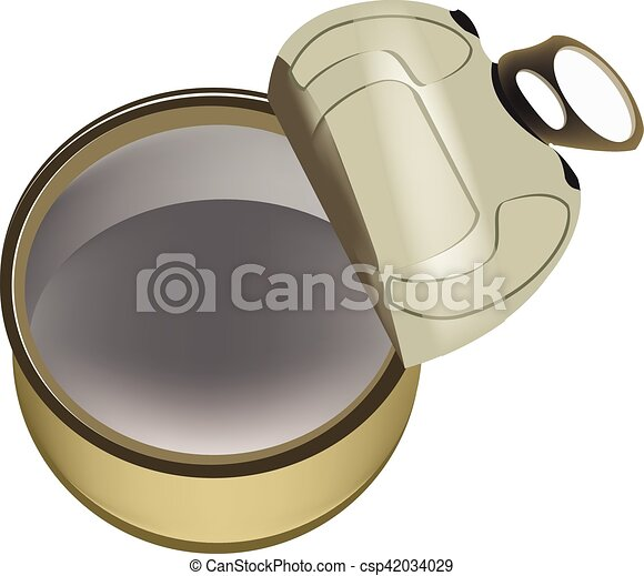 Empty Opened Tin Can - csp42034029