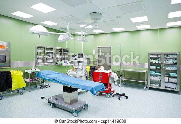 Empty operation room surgery - csp11419680