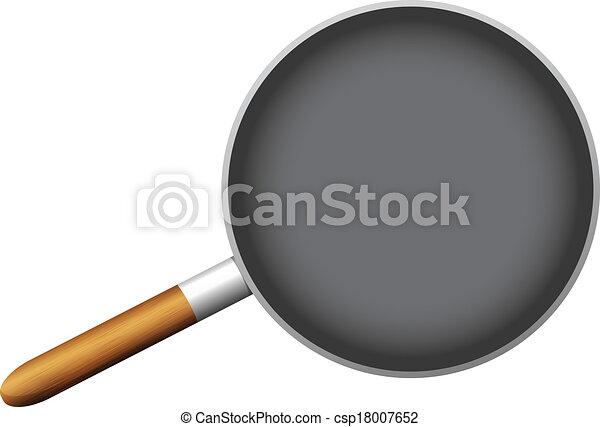 empty pan on white background - csp18007652