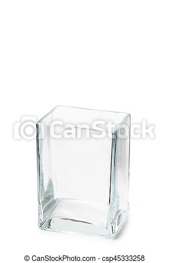 Empty Parallelepipedic Crystal Vase An Empty Parallelepipedic