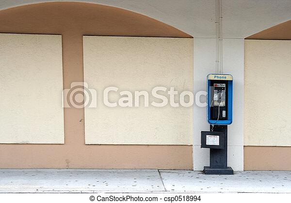 Empty Pay phone - csp0518994