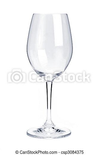 Empty red wine glass - csp3084375