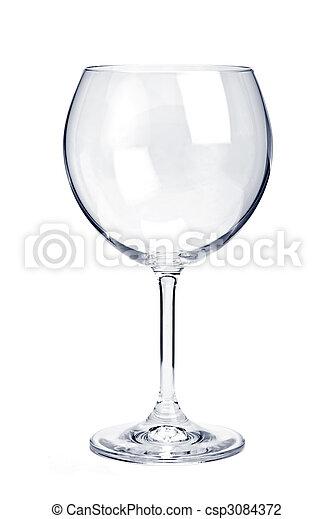 Empty red wine glass - csp3084372