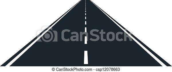 empty road - csp12078663
