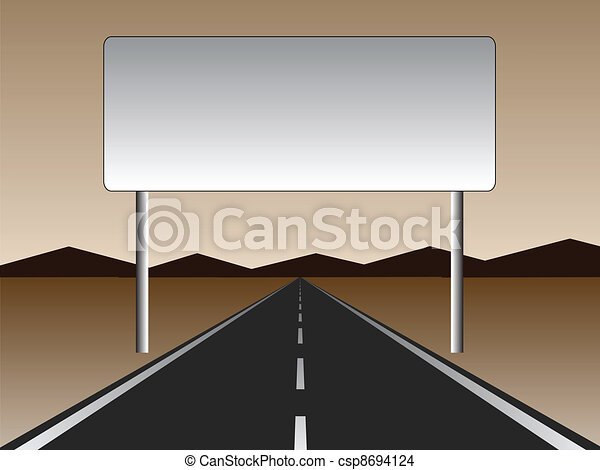 empty road - empty billboard - csp8694124