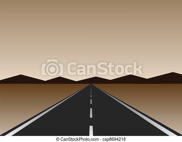 empty road - csp8694218
