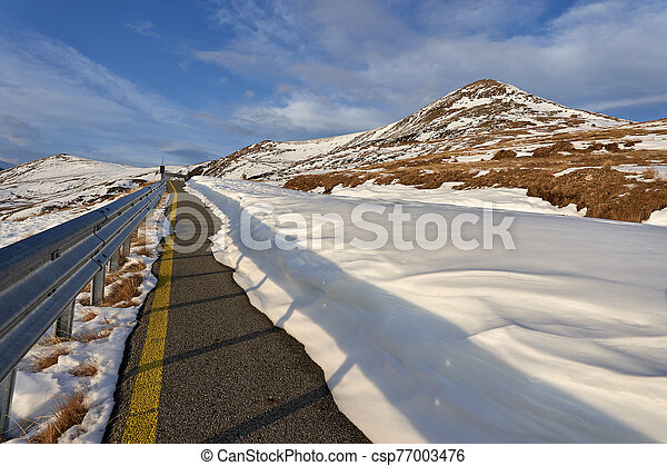 Empty road in the mountains - csp77003476