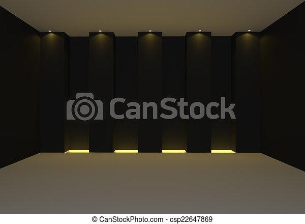 Empty room black - csp22647869