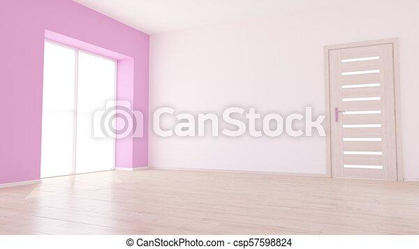 Empty Room - csp57598824