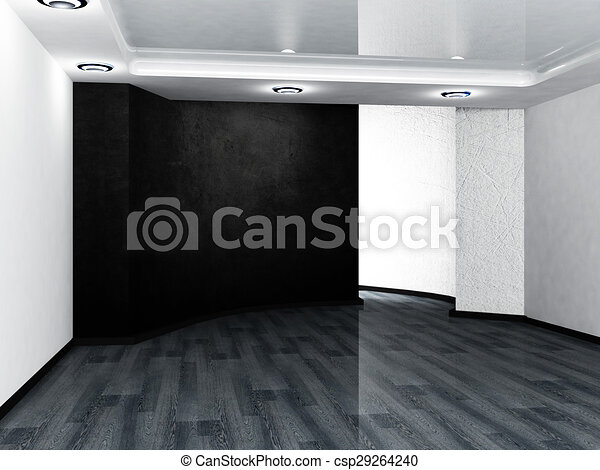 empty room in black and white colors - csp29264240