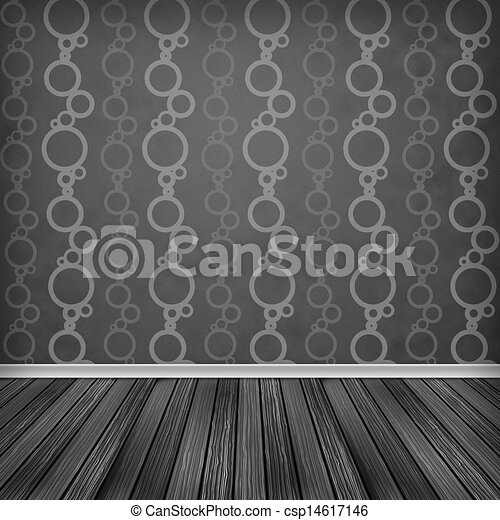 Empty Room Interior With Wallpaper High Resolution Texture Background
