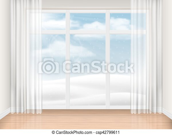 Empty Room With Large Window Empty Bright Room With Large