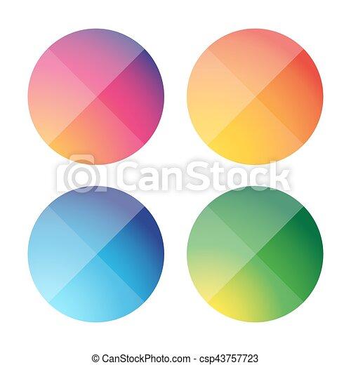 Empty round button vector set - csp43757723