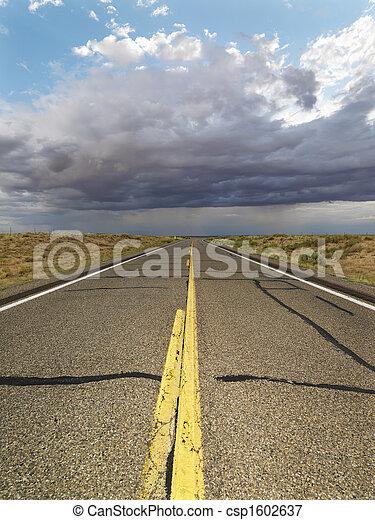 Empty rural road. - csp1602637