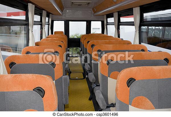 Empty School Bus Interior   Csp3601496