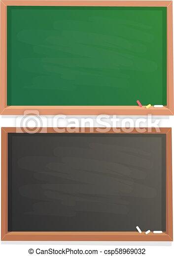 empty school chalkboard black and green chalk blackboard in wooden