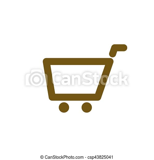 empty shopping cart icon empty shopping cart vector icon rh canstockphoto com shopping cart icon vector psd shopping cart icon vector free download