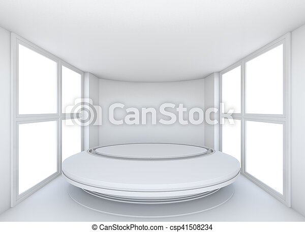 Super Empty Showroom With Circle Table For Exhibit Download Free Architecture Designs Scobabritishbridgeorg