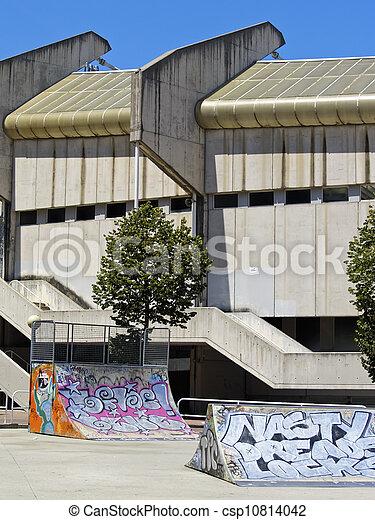 Empty Skate Park in Donostia - San Sebastian - csp10814042