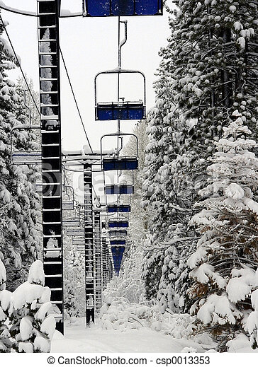 Empty Ski Lift - csp0013353