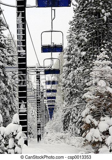 Empty Ski Lift - csp0013353