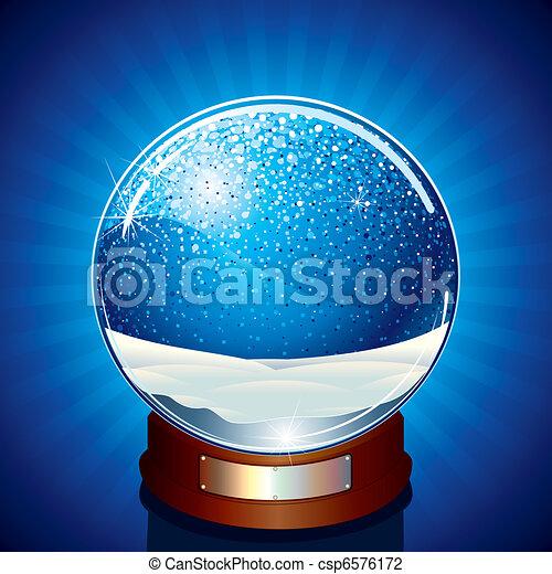 empty snow globe classic snow globe vector illustration ready for