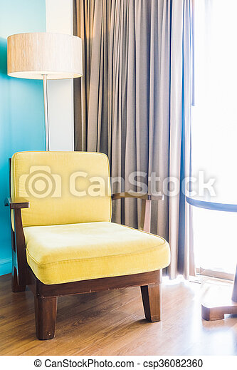 Empty sofa and chair - csp36082360