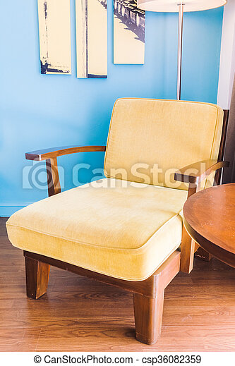 Empty sofa and chair - csp36082359