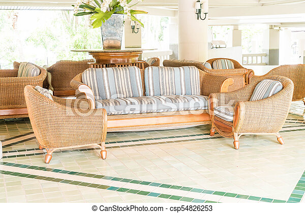 empty sofa and chair - csp54826253